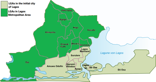 Map Of Lagos Island Nigeria Lagos Map: The Map of Lagos State (with Pictures)