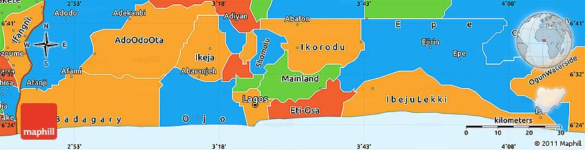 lagos state map